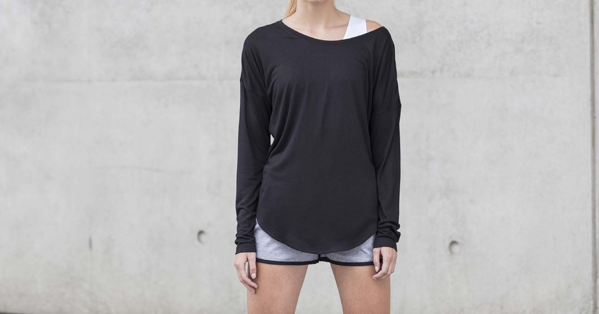 T-shirt de senhora de manga comprida