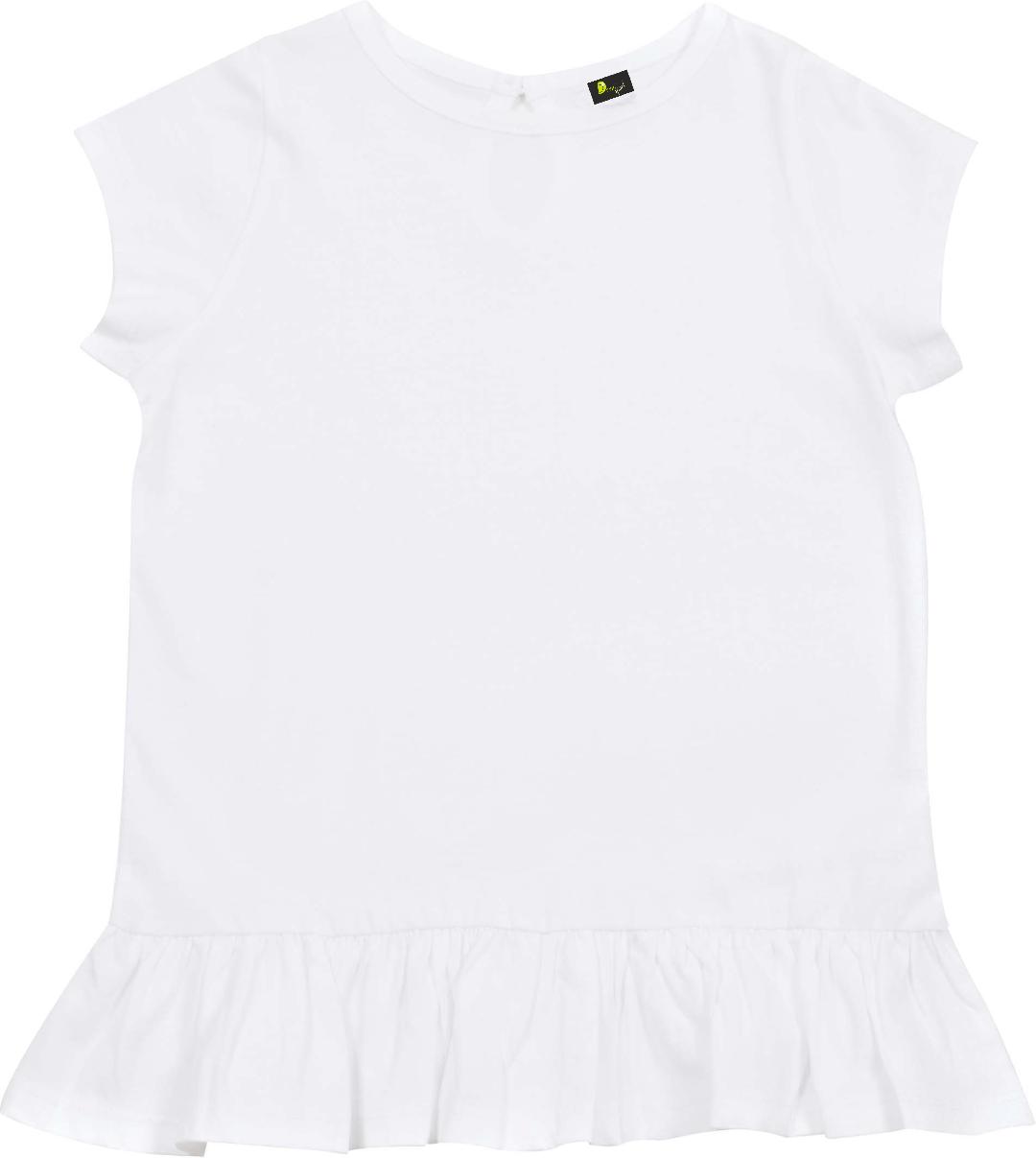 T-shirt de bebé com franzido