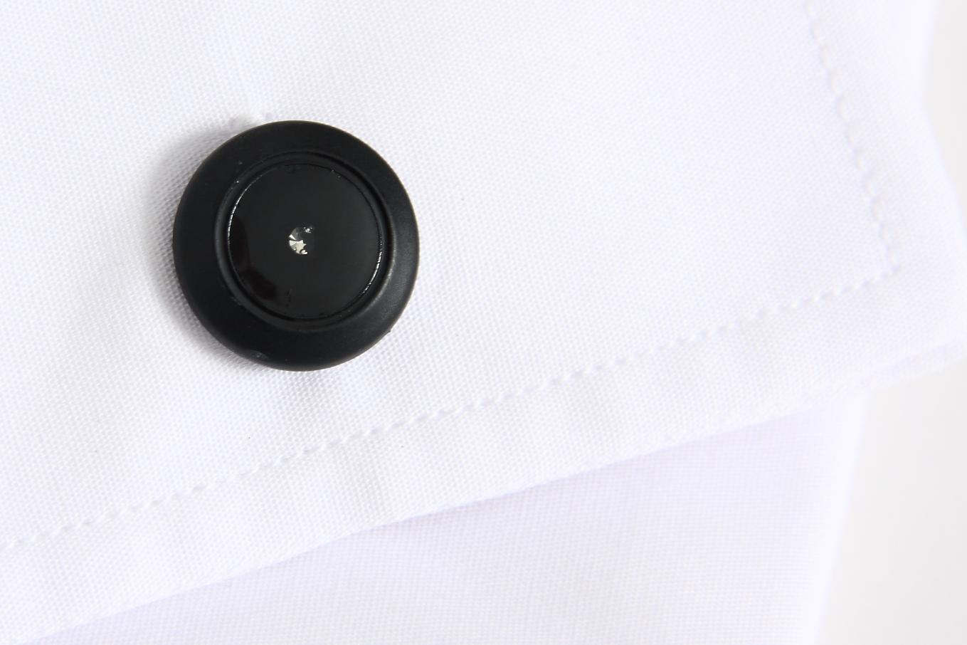 Botão de punho plástico com zircónia