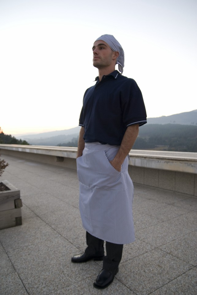 Avental de cintura anatómico