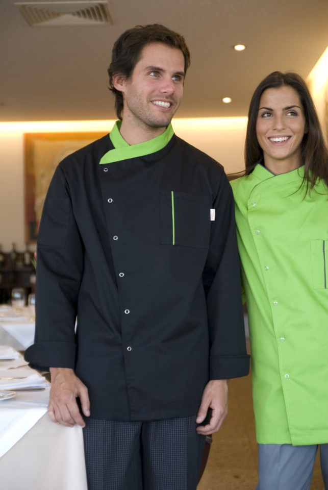 Manteau de cuisine unisexe avec ressorts de pression - Ovar
