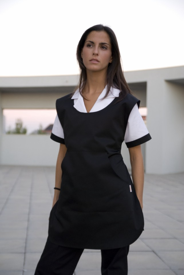 Avental Unissexo de peito tipo bibe com bolso central
