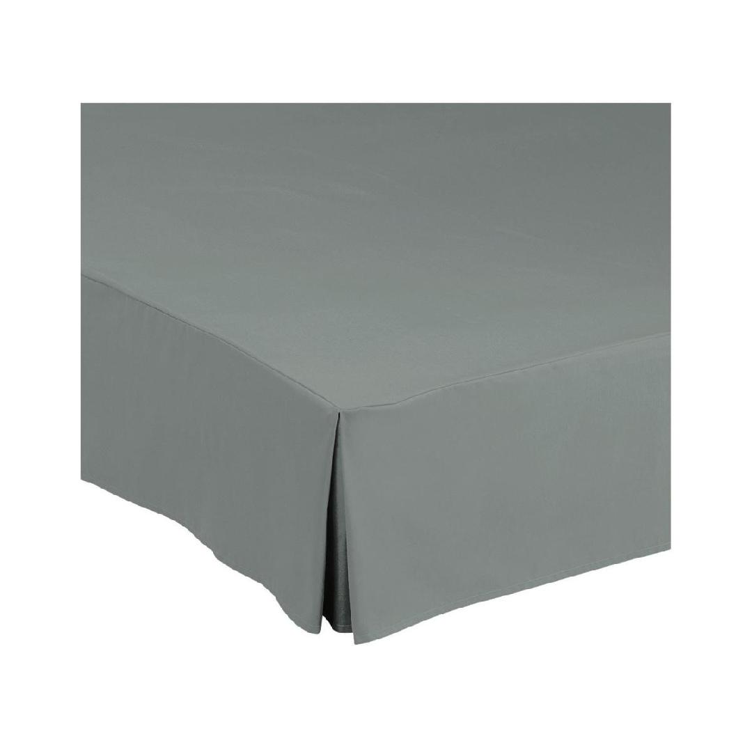 Estofo de cama  Corfou; 180x200x30cm (CxLxA); cinza; 1 peça