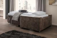 Rodapé para sofá cama 90x200cm (LxC) castanho 1 peça