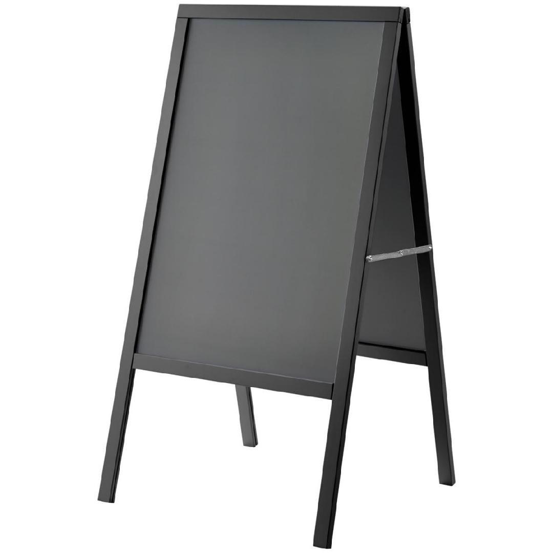 Expositor de menu exterior Texas 69.5x133.0cm (WxH) preto 1 peça