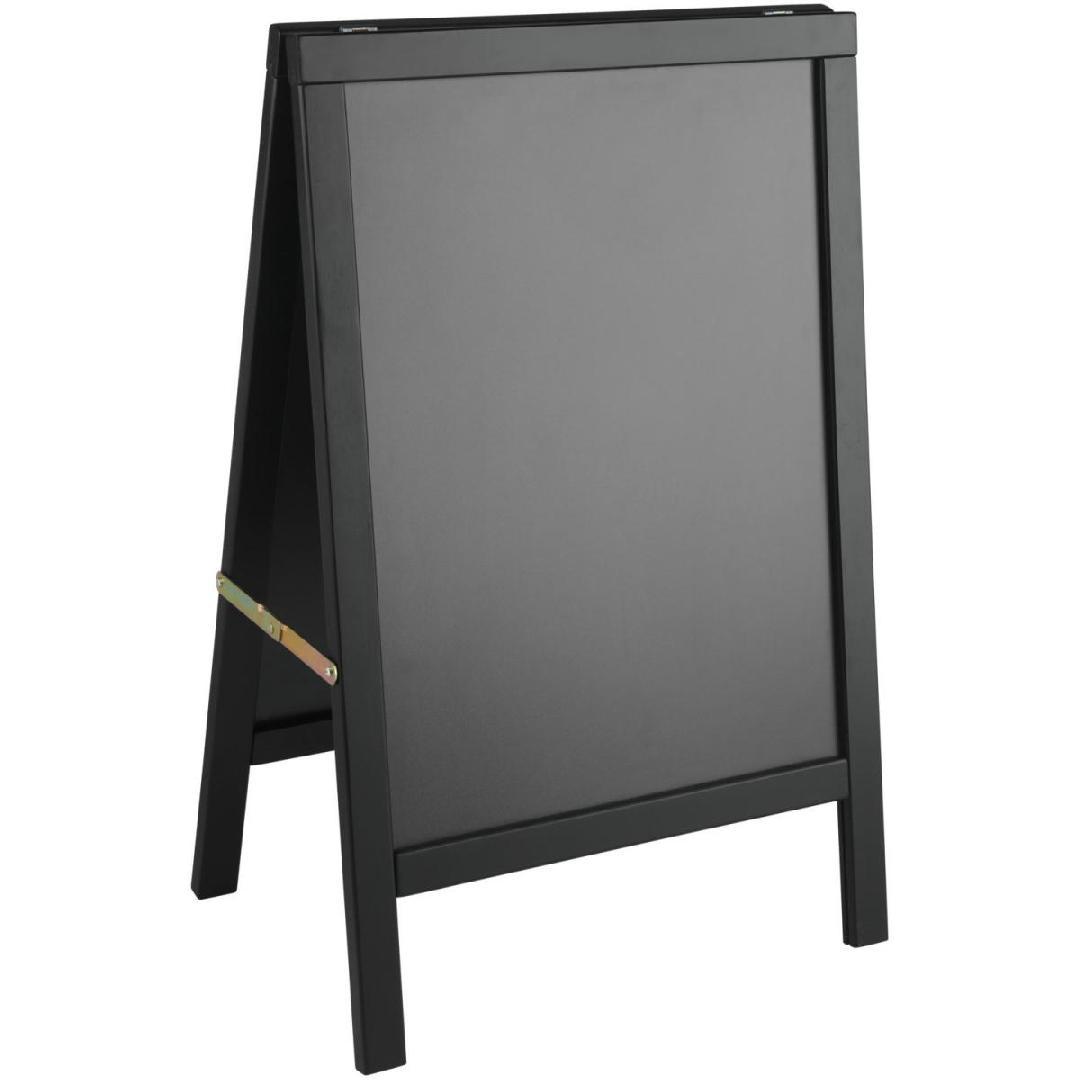 Expositor de menu exterior Texas 54x85cm (WxH) preto 1 peça
