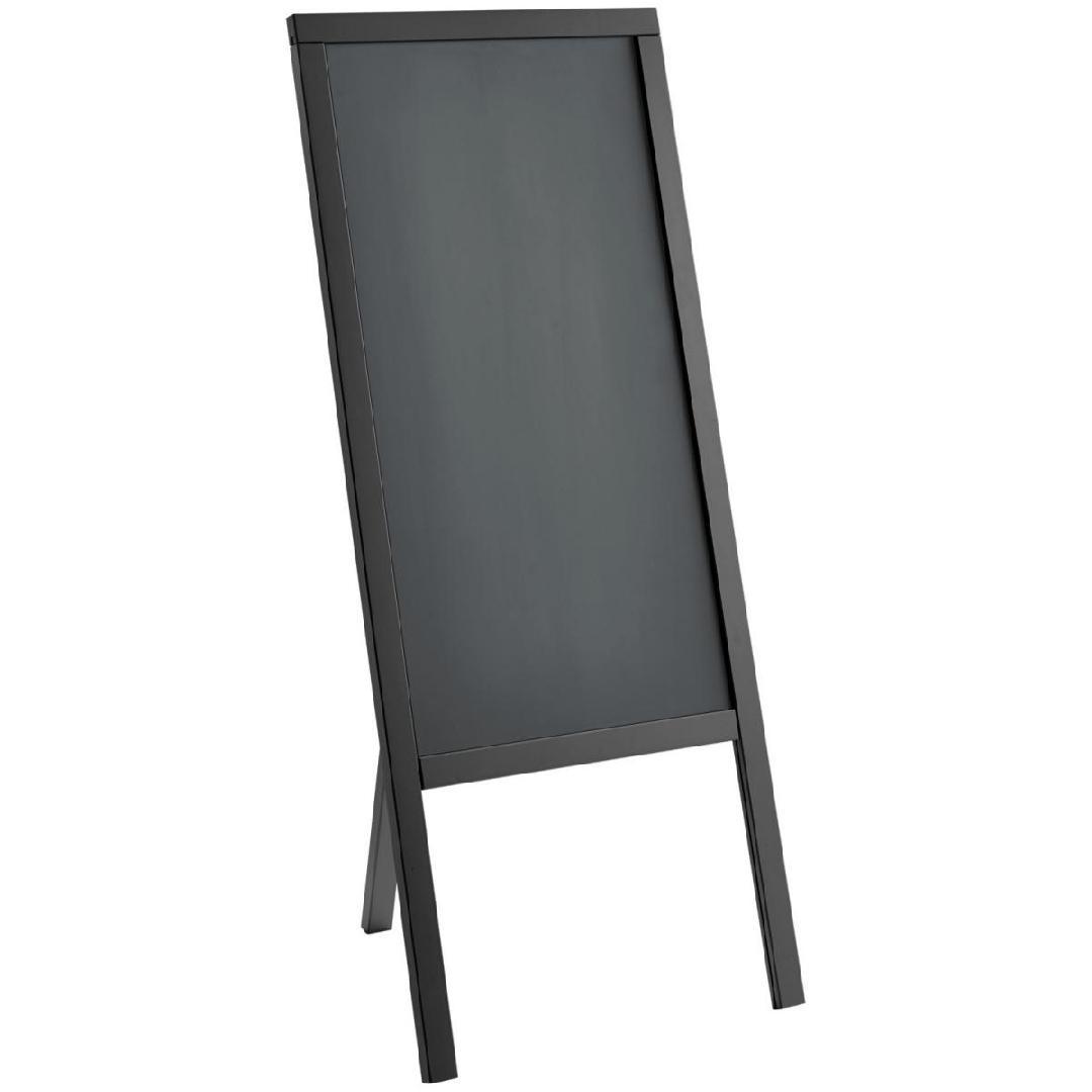 Expositor de menu exterior Texas com 2 pés, 56x133cm (WxH) preto 1 peça