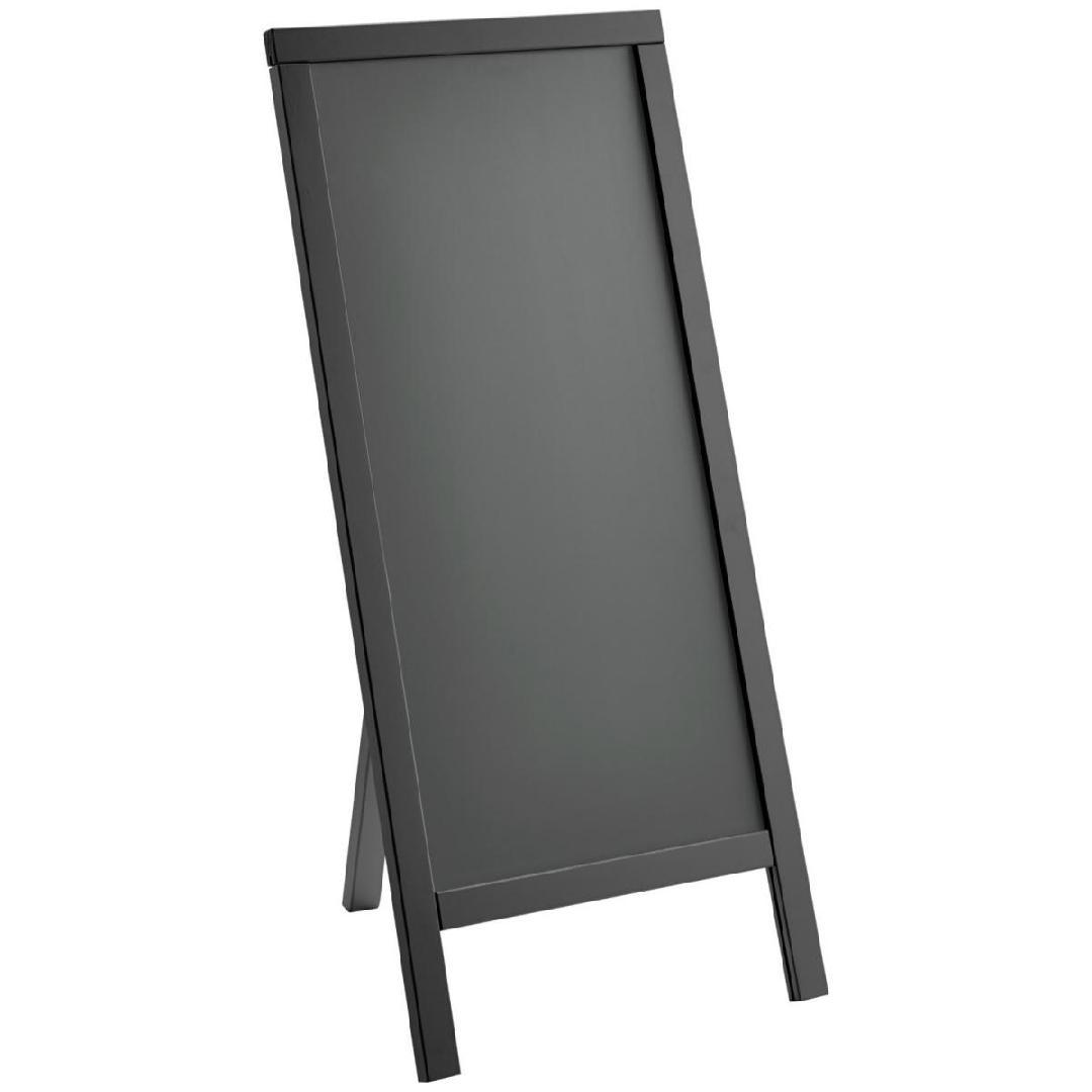 Expositor de menu exterior Texas com um pé 50x109cm (WxH) preto 1 peça