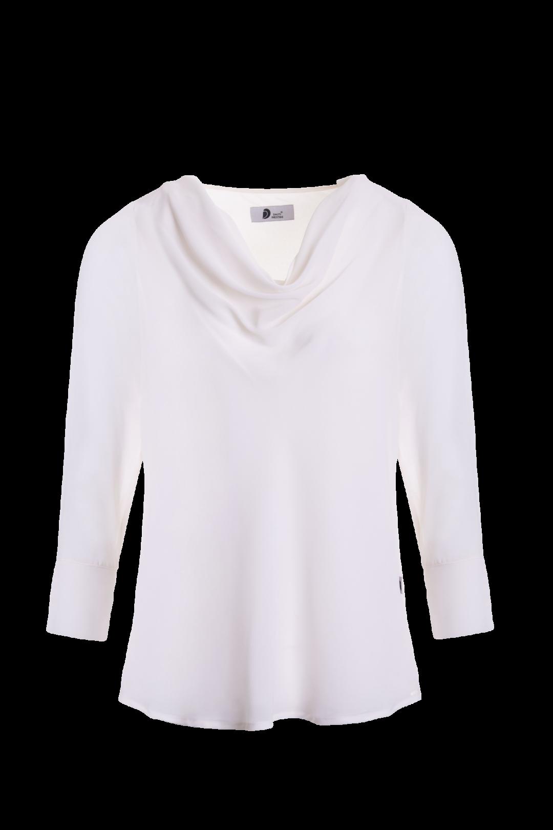 Blusa Senhora manga comprida com drapeado no peito - Àgua