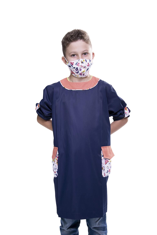 Túnica / Bata de Criança anti-bacteriana com detalhes padrão Borboletas - Bensafrim