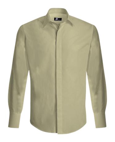 Camisa de Homem com botões escondidos - Alfarelos