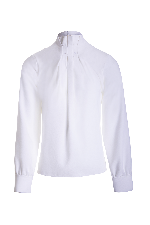 Blusa de Senhora com pregas na gola - Nova